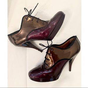 LANVIN Bi-Color Lace Up Boots Sz 40.5